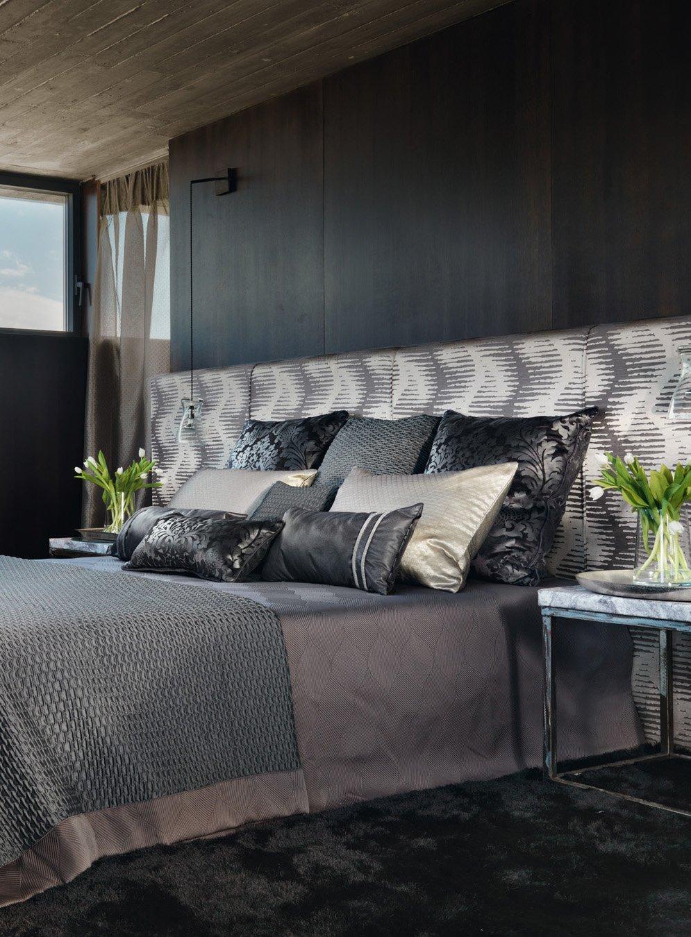 Bespoke soft furnishings in bedroom